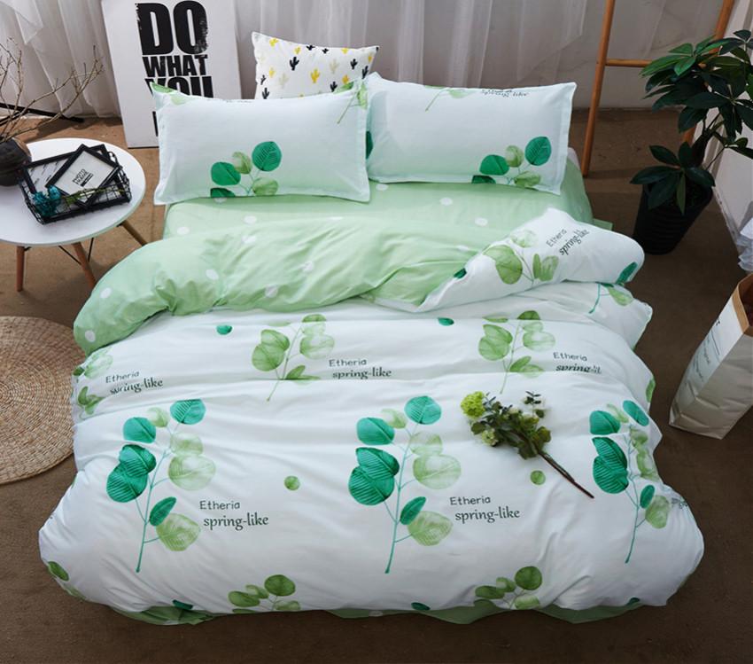 Полуторный комплект постельного белья из хлопка Полуторний комплект постільної білизни 1.5-спальный S450