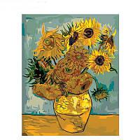 "Картина по номерам 40*50 см ""Подсолнухи"" художник  Ван Гог, фото 1"