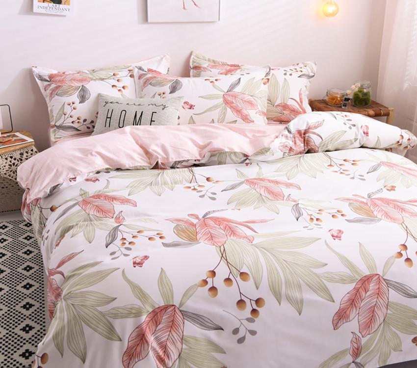 Полуторный комплект постельного белья из хлопка Полуторний комплект постільної білизни 1.5-спальный S451