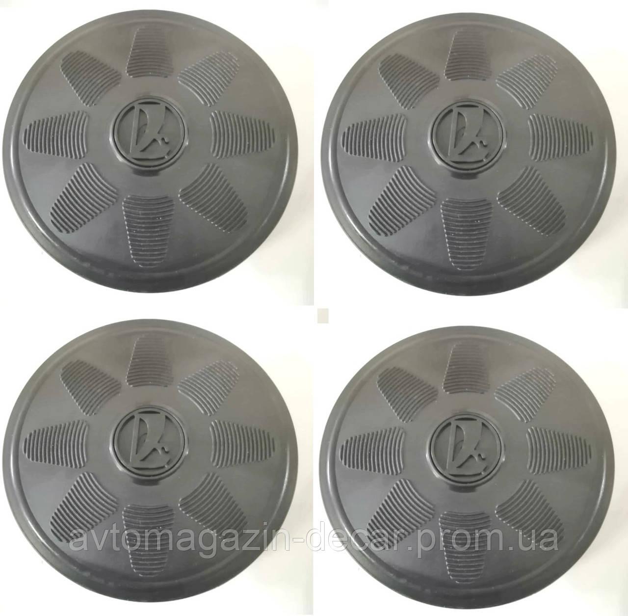 Колпаки диска Lada черные /черн.эмблема  (разболтовка 4х98) (4шт)