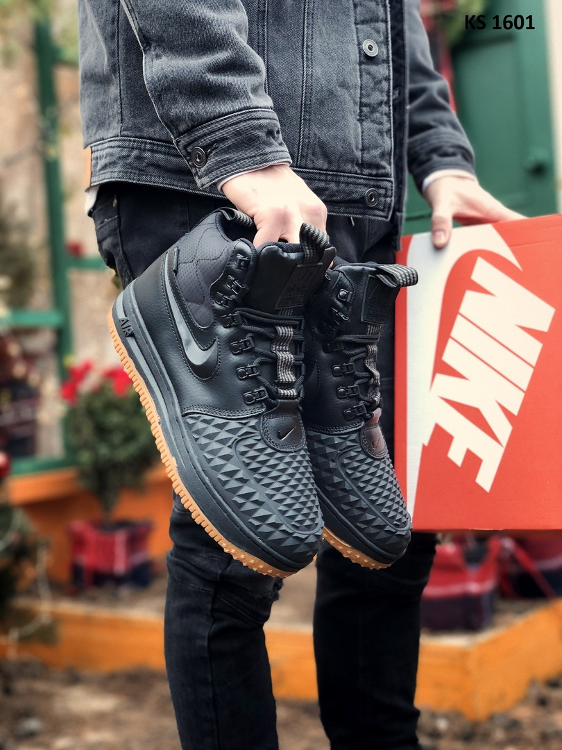 Nike LF1 Duckboot (черно/коричневые) ЗИМА cas