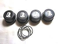 Колпачок ступицы 2108,09 черн/бел.эмб. с уплот.кольцом  (4шт)