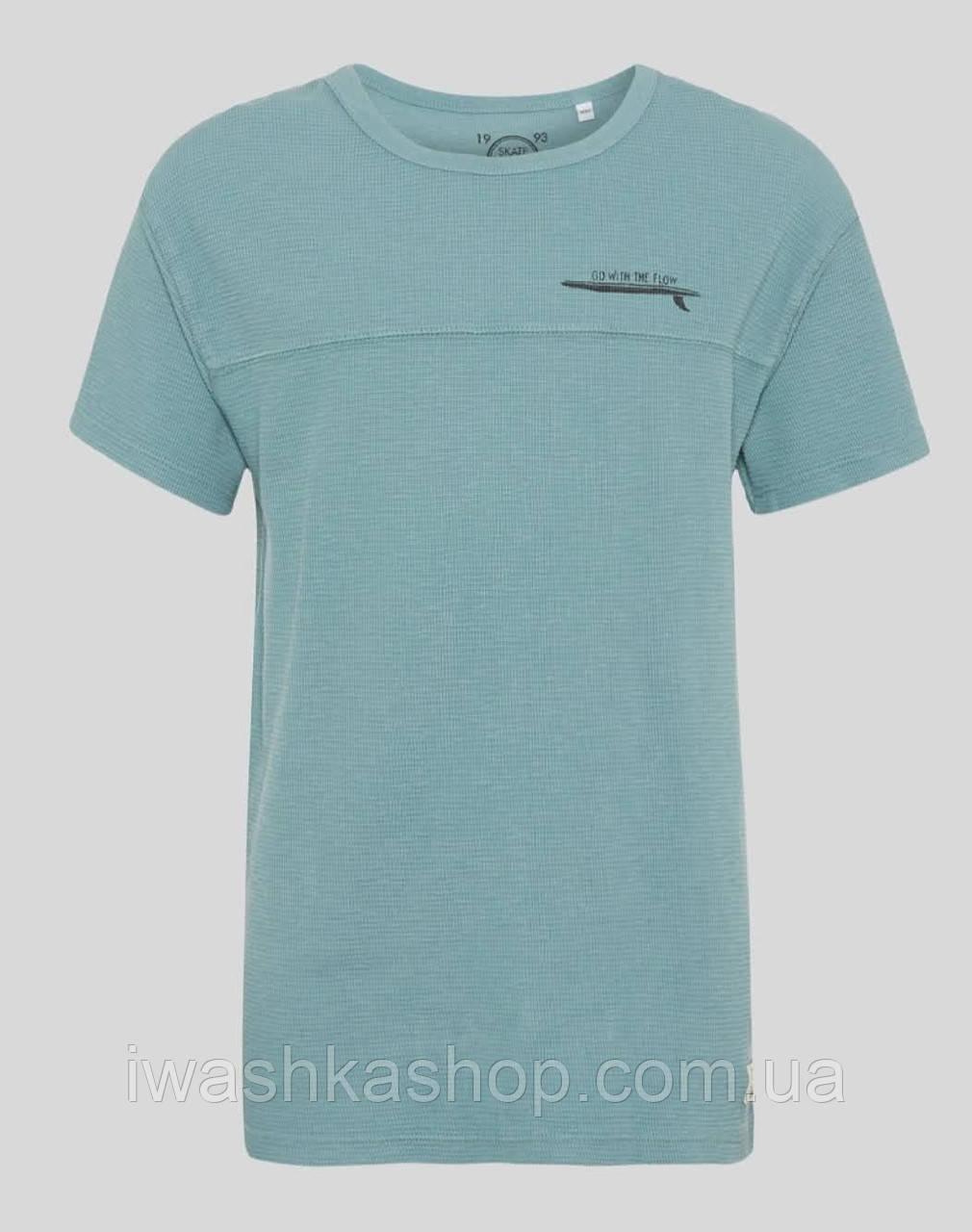 Стильная футболка из ребристого трикотажа на мальчика 6 - 8 лет, р. 122-128, here+there / C&A
