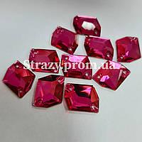 Стрази Lux Космік 13*17мм. Pink