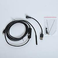 Камера MicroUSB/USB эндоскоп Android, PC 2 метра с подсветкой 7мм