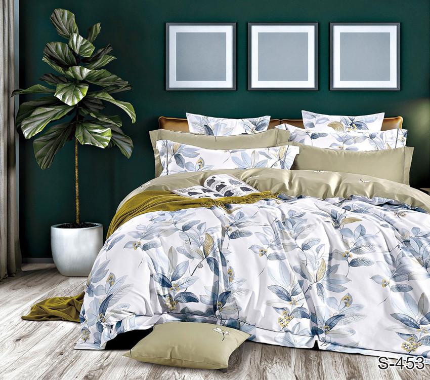 Полуторный комплект постельного белья из хлопка Полуторний комплект постільної білизни 1.5-спальный S453