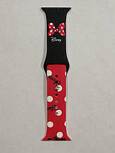 Ремешок Apple Watch Silicone DISNEY 42/44mm Minnie Mouse Bow Red