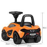Детская машинка каталка-толокар от1 года, эко кожа,McLaren оранжевый, фото 3