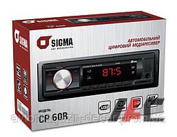 "Магнитола-FM - ""SIGMA"" - CP-60G - (Black/Green)/USB/SD/4x40W"