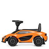 Детская машинка каталка-толокар от1 года, эко кожа,McLaren оранжевый, фото 4