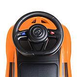Детская машинка каталка-толокар от1 года, эко кожа,McLaren оранжевый, фото 5