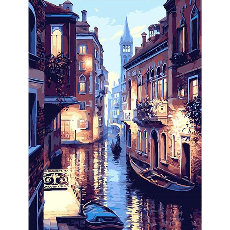 """Картина за номерами 40*50 см без підрамника """"Вулиця Венеції"""""""