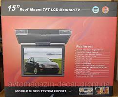 """Телевізор 15""""TFT Стельовий 1599 SD/MMC/USB/AVх2 вхід TV тюнер Black"""