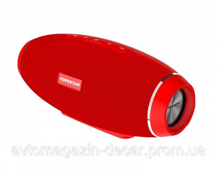 Колонка  HopeStar H 20 (Bluetooth/FM,MicroCD,USB,AUX)+саб Красный