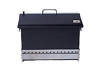 Коптильня для горячего копчения до 6 кг Крышка Домиком 520х300х310 окрашенная, фото 5