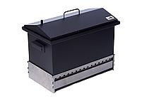 Коптильня для горячего копчения до 6 кг Крышка Домиком 520х300х310 окрашенная, фото 6
