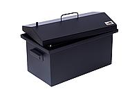 Коптильня для горячего копчения до 6 кг Крышка Домиком 520х300х310 окрашенная, фото 9