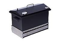 Коптильня для горячего копчения до 6 кг  520х300х310 с термометром окрашенная, фото 6