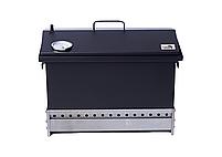 Коптильня для горячего копчения до 6 кг  520х300х310 с термометром окрашенная, фото 7