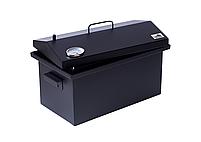 Коптильня для горячего копчения до 6 кг  520х300х310 с термометром окрашенная, фото 9