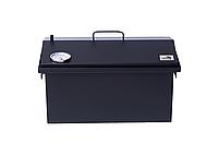 Коптильня для горячего копчения до 6 кг  520х300х310 с термометром окрашенная, фото 10