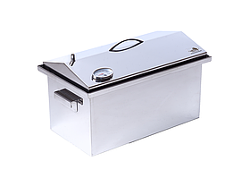 "Коптильня для горячего копчения до 5 кг с термометром (520х300х310) крышка ""Домик"""