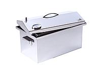 """Коптильня для горячего копчения до 5 кг с термометром (520х300х310) крышка """"Домик"""", фото 3"""