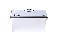 """Коптильня для горячего копчения до 5 кг с термометром (520х300х310) крышка """"Домик"""", фото 8"""