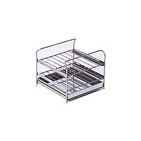 """Коптильня для горячего копчения с термометром крышка """"Домик"""" из нержавеющей стали (300х300х250), фото 9"""