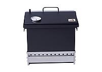 Коптильня для горячего копчения Крышка Домиком 400х300х310 с термометром окрашенная, фото 5