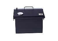 Коптильня для горячего копчения Крышка Домиком 400х300х310 с термометром окрашенная, фото 6