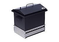 Коптильня для горячего копчения с гидрозатвором Крышка Домиком 400х300х310 окрашенная, фото 5