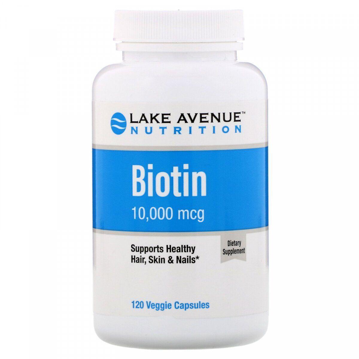 Lake Avenue Biotin 10,000 mcg 120 Veg Caps