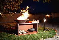 Гриль-мангал, барбекю HOLLA GRILL Rust Wide большая открытая тумба, фото 5