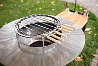 Гриль-мангал, барбекю HOLLA GRILL Rust Wide большая открытая тумба, фото 8