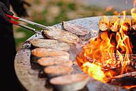Гриль мангал, барбекю большая открытая тумба  HOLLA GRILL Black Wide, фото 4