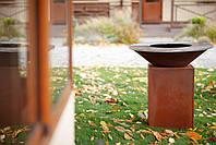 Гриль-мангал, барбекю закрытая тумба HOLLA GRILL Original Rust, фото 8