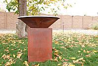 Гриль-мангал, барбекю закрытая тумба HOLLA GRILL Original Rust, фото 10