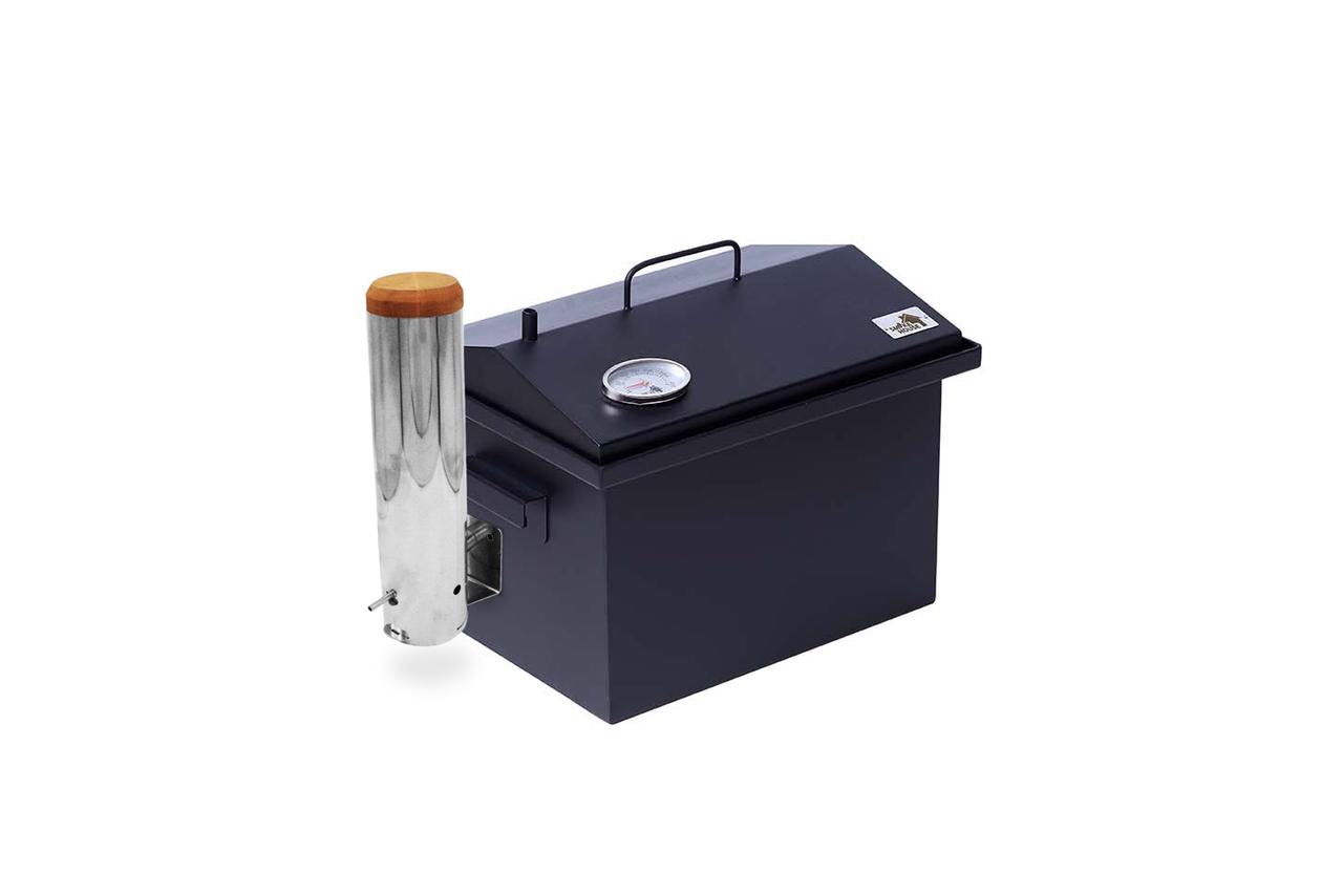 Коптильня с термометром для горячего копчения окрашенная (400х300х310) Smoke House