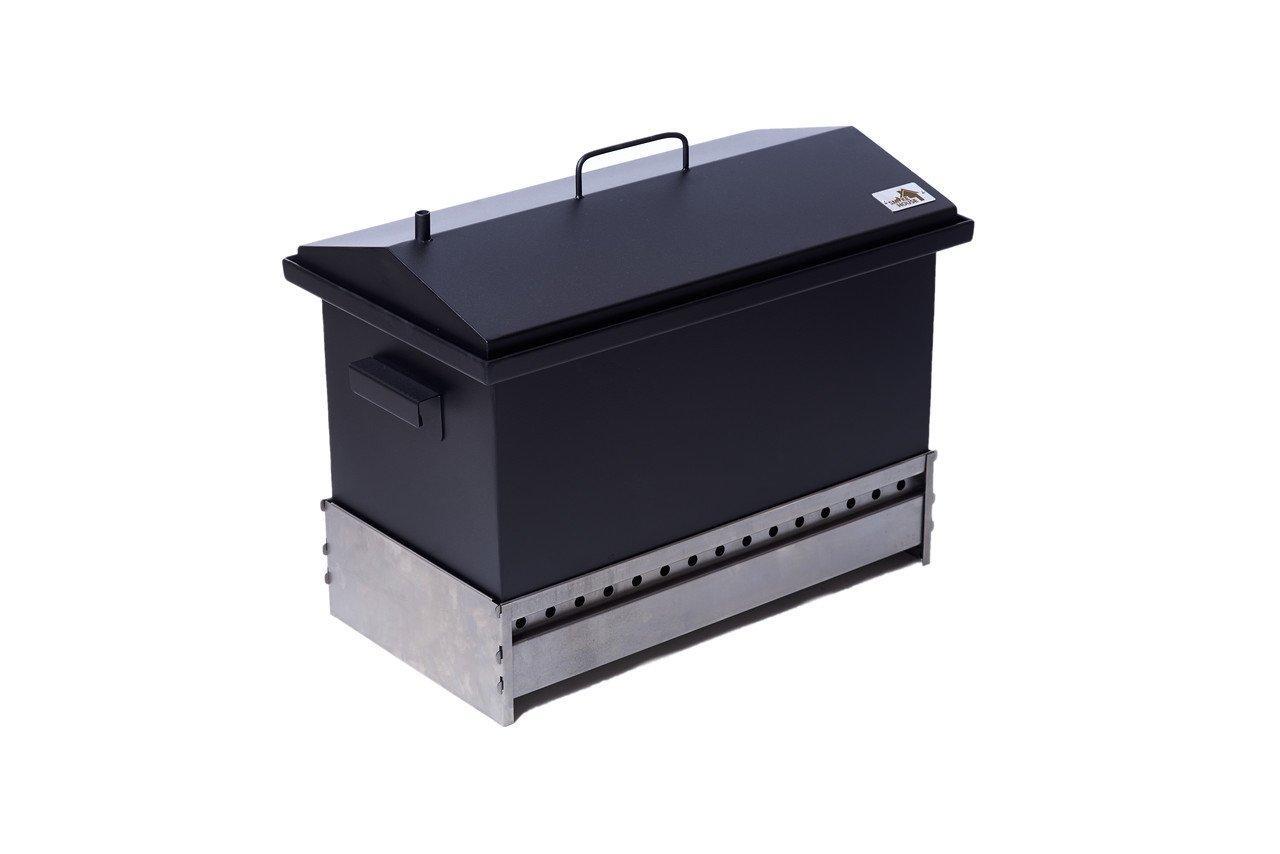 Коптильня двухъярусная для рыбы, мяса, птицы, сала и фруктов с подставкой (520х300х310)