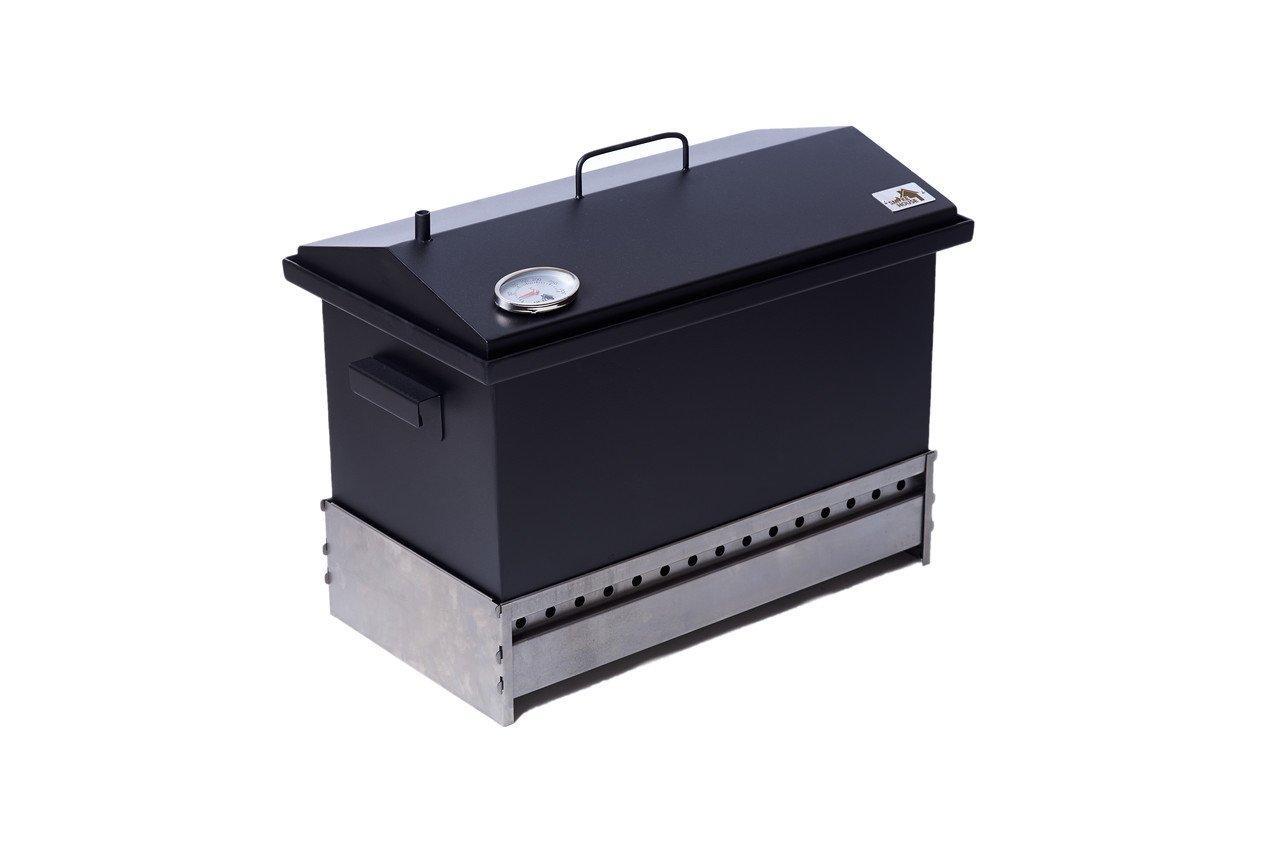 Коптильня двухярусная для рыбы, мяса, птицы, сала и фруктов с подставкой и термометром (520х300х310)