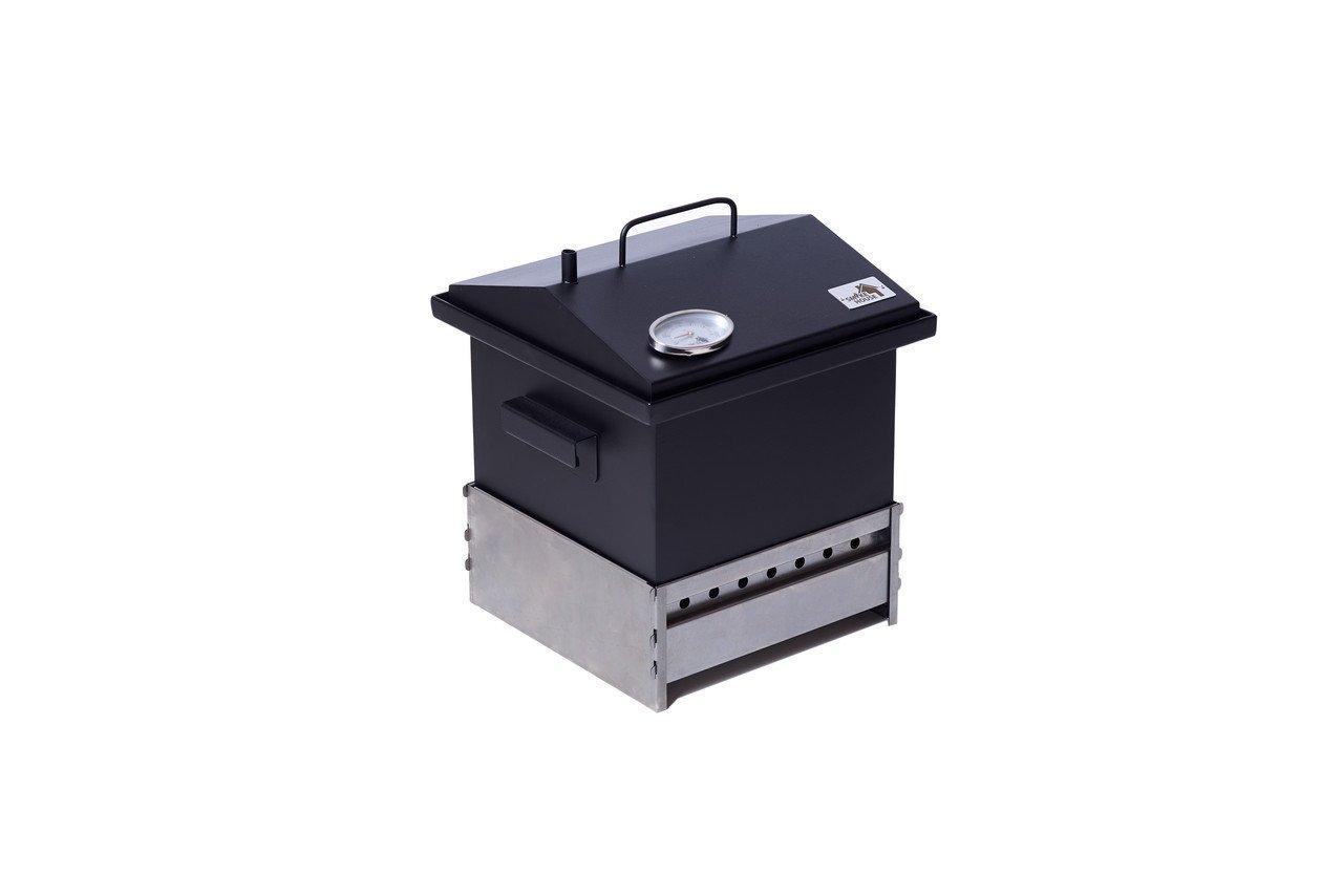 Коптильня для горячего копчения с гидрозатвором и термометром  300х300х250 Smoke House