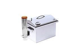 Домашняя коптильня из нержавейки с гидрозатвором (400х300х310)