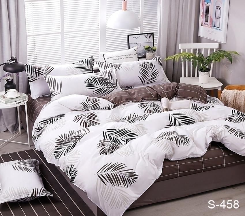 Полуторный комплект постельного белья из хлопка Полуторний комплект постільної білизни 1.5-спальный S458