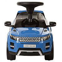 Детская машинка каталка-толокар, музыкальный Land Rover синий