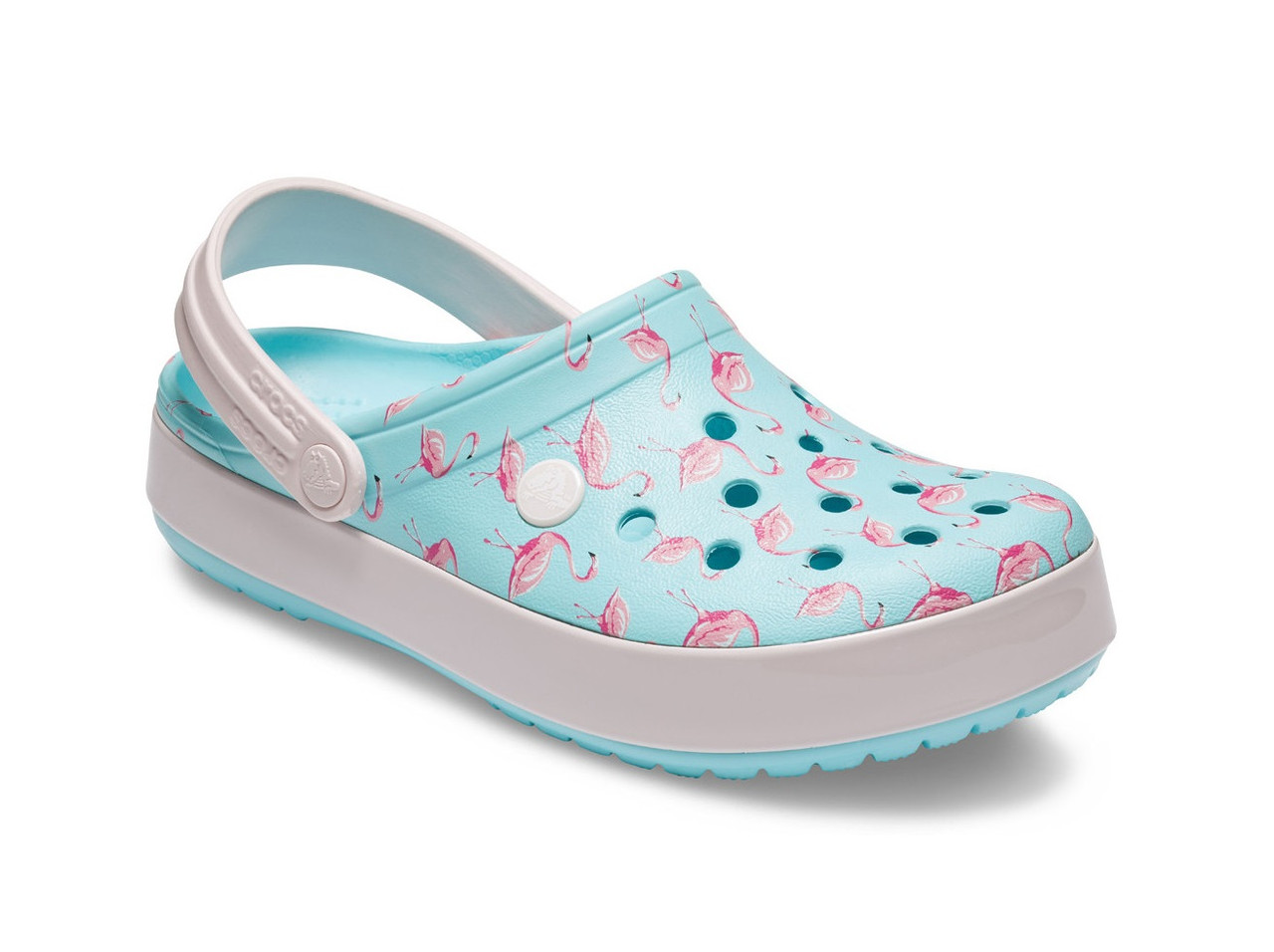 CROCS Crocband™ Seasonal Graphic Clog Ice Blue / Pink Женские Кроксы Сабо