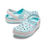 CROCS Crocband™ Seasonal Graphic Clog Ice Blue / Pink Женские Кроксы Сабо, фото 2