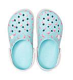 CROCS Crocband™ Seasonal Graphic Clog Ice Blue / Pink Женские Кроксы Сабо, фото 3