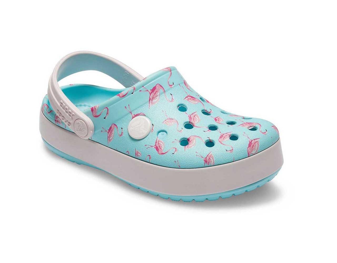 CROCS Kids' Crocband™ Multigraphic Clogs Flamingo Детские Кроксы Сабо
