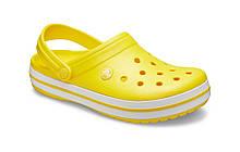 CROCS Crocband™ Clog Lemon / White Женские Мужские Кроксы Сабо